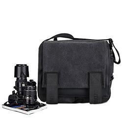 Canvas Shoulder Bag DSLR SLR Camera Sling Bag Travel Outdoor