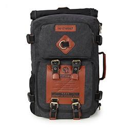 Koolertron Canvas Vintage Fashion Rucksack Laptop Backpack H