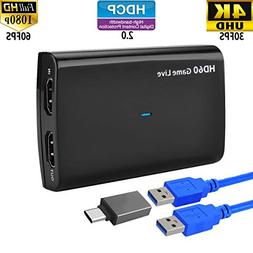 Video Capture HDMI Out USB 3.0 Game Recorder Device Card - 4