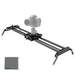 Fomito 32 Inch/ 80cm Carbon Fiber Camera Video DSLR Track Do