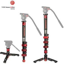 IFOOTAGE Carbon Fiber Video Monopod 4 Section with Tripod Fe