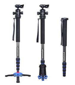 koolehaoda Pro Camera Carbon Fiber Monopod with Three foot s