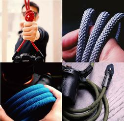 climbing rope and leather braided dslr slr