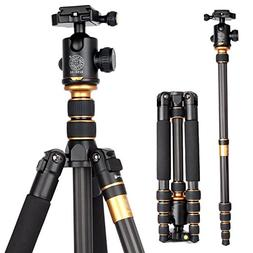 OCDAY Compact Travel Portable Carbon Fiber Camera Tripod Mon