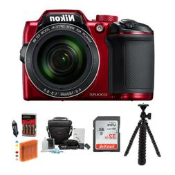 Nikon COOLPIX B500 Digital Camera  with 32GB Memory Card & F