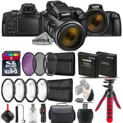 Nikon COOLPIX P1000 Digital Camera + DSLR & Spider Tripod  +