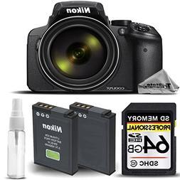 Nikon COOLPIX P900 Digital Camera 83x Optical Zoom, Built-In