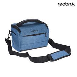 Andoer Cuboid-shaped DSLR Camera Shoulder Bag Fashion Polyes