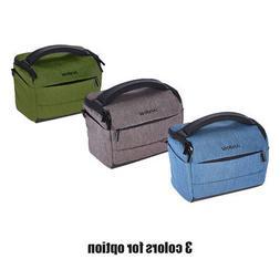 Andoer Cuboid-shaped DSLR Camera Shoulder Bag Portable Polye