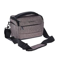 Andoer Cuboid-shaped DSLR Camera Shoulder Bag Portable Fashi