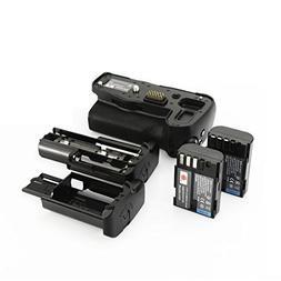 DSTE Pro D-BG5 Vertical Battery Grip + 2x D-LI90 Battery Pac
