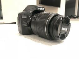 Nikon D D3200 24.2MP Digital SLR Camera - Black (Kit w/ AF-S