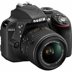 Nikon D3300 Dslr Camera w/ New 18-55mm Af-p Stepping Vr Moto