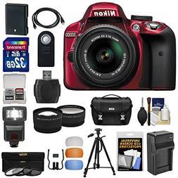 Nikon D3300 Digital SLR Camera & 18-55mm G VR DX II AF-S Zoo