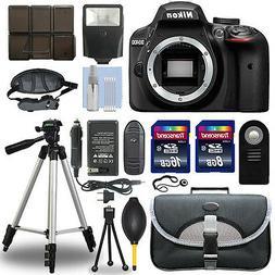 Nikon D3400 24.2 MP Digital SLR Camera Body + 24GB Top Acces