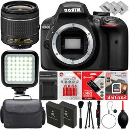 Nikon D3400 Digital SLR Camera w/ AF-P 18-55mm VR DX Zoom Le