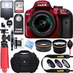 Nikon D3400 24.2 MP DSLR Camera w/ AF-P DX 18-55mm VR Lens K