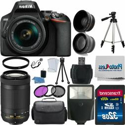 Nikon D3500 Digital SLR Camera + 4 Lens: 18-55mm VR Lens 70-