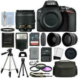 Nikon D3500 Digital SLR Camera Black with 3 Lens: 18-55mm VR