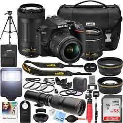 Nikon D3500 DSLR Camera + 18-55mm VR + 70-300mm 2 Lens + 500