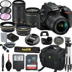 Nikon D3500 DSLR Camera w/ AF-P DX 18-55mm VR & 70-300mm VR