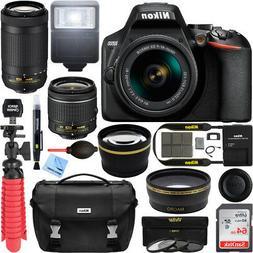 Nikon D3500 DSLR Camera w/ AF-P DX 18-55mm & 70-300mm Zoom L