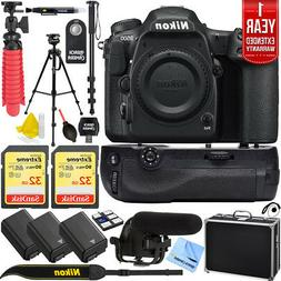 Nikon D500 DX Format 4K DSLR Camera Pro Memory Triple Batter
