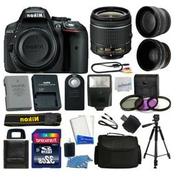Nikon D5300 Digital SLR Camera + 3 Lens Kit 18-55mm + 32GB A