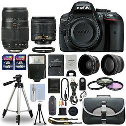 Nikon D5300 Digital SLR Camera + 4 Lens Kit: 18-55mm + 70-30