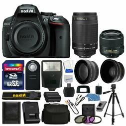Nikon D5300 Digital SLR Camera + 4 Lens Kit: 18-55mm VR + 70