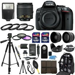 Nikon D5300 DSLR Camera + 18-55mm NIKKOR Lens + 30 Piece Acc