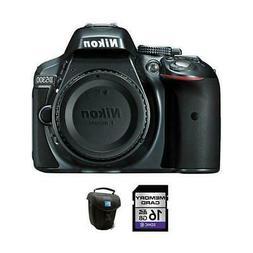 Nikon D5300 DSLR Camera - Gray + 16GB & Case