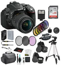 Nikon D5300 DSLR Camera w/ AF-P 18-55mm Lens Bundle ? 32GB S