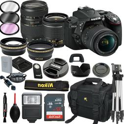 Nikon D5300 DSLR Camera With 18-55mm VR and Tamron 70-300mm