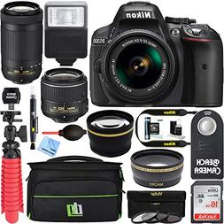 Nikon D5300 24.2 MP DSLR Camera + AF-P DX 18-55mm & 70-300mm