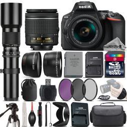 Nikon D5600 DSLR Camera + Nikon 18-55mm VR Lens + 500mm Tele