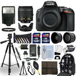 Nikon D5600 DSLR Camera + 18-55mm VR NIKKOR Lens + 24GB Mult