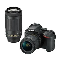 Nikon D5600 DSLR Camera w/18-55mm and 70-300mm lenses- ORIGI