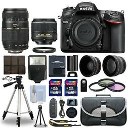 Nikon D7200 Digital SLR Camera + 4 Lens Kit 18-55mm + 70-300
