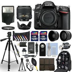 Nikon D7200 DSLR Camera + 18-55mm NIKKOR Lens + 24GB Multi A