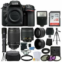 Nikon D7500 DSLR Camera 9 Lens 18-55 VR +70-300 +500MM + 32G