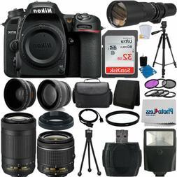 Nikon D7500 DSLR Camera 9 Lens 18-55 VR + 70-300 VR + 500MM