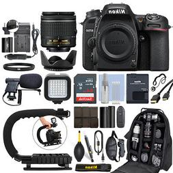 Nikon D7500 Digital SLR Camera 4K with 18-55mm VR Lens + 64G