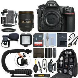 Nikon D850 FX DSLR Camera with 24-120mm f/4G AF-S ED VR Lens