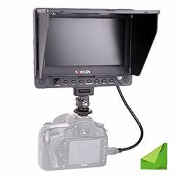 """EACHSHOT DC-70EX 7"""" HD 1024x600 IPS Screen Clip-on HDMI/SDI/"""