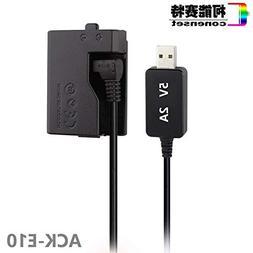 Xennos DC Power AC Adapter ACK-E10 ACKE10 LP-E10 for Canon E