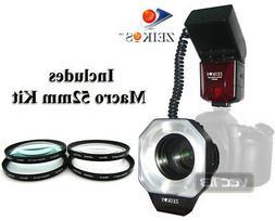 Dedicated ETTL Macro Ring Flash+4 Macro Filter FOR CANON 120