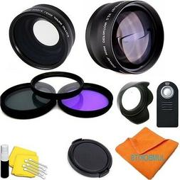 40.5MM TELEPHOTO ZOOM LENS + WIDE ANGLE LENS + FLASH+GIFTS F