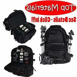 Deluxe camera Backpack Pro Bag Case Canon Nikon DSLR SLR BLA