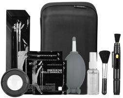 Movo Deluxe Essentials DSLR Camera Cleaning Kit PRO with LED